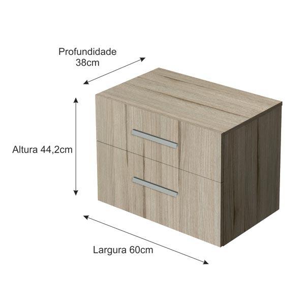 Artesanato Facil E Lucrativo ~ Armário Modular de Banheiro Inferior Madeira Grigio 44,20x60x38 Hidrus Gaam Leroy Merlin