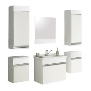 Armário de Banheiro Modular MDF Proppus Branco 82,50x32,50x27cm Cerocha
