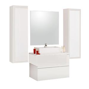 Armário de Banheiro Modular MDF Aludra Branco Cerocha