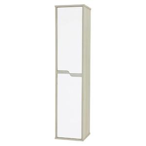 Armário de Banheiro Modular MDF Pérola Branco e Perola 130x29x30cm Scalla