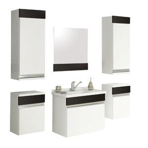 Armário de Banheiro Modular MDF Proppus Preto 82,50x32,50x27cm Cerocha