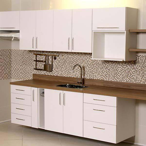 Aparador Grande Para Tv ~ Armário de Cozinha de Cozinha Inferior MDP Branco 3 Gavetas MDF Marseille Delinia Leroy Merlin