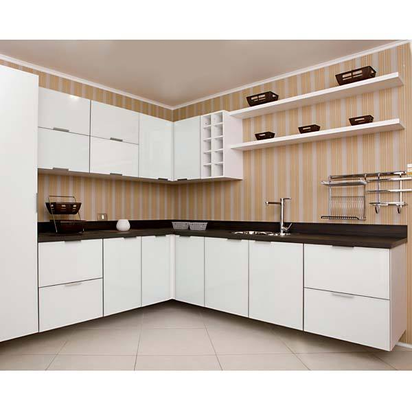Adesivo Luz De Led ~ Armário de Cozinha de Cozinha Superior MDP Branco 1 Porta para Cozinha Vidro Lille Delinia