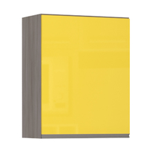 Armário de Cozinha 1 Porta 31x75x60cm Amarelo  Prime Luciane