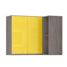 Armário de Cozinha Canto 54,5x75x95cm Amarelo  Prime Luciane