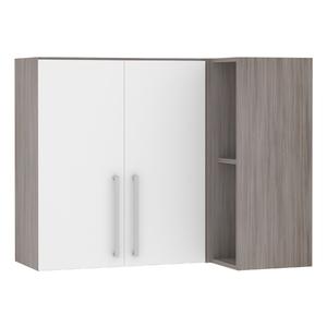 Armário de Cozinha Canto 54,5x75x95cm Branco Prime Luciane