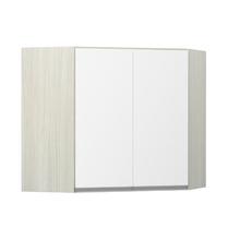 Armário de Cozinha Canto Diagonal 76x75x76cm Branco Prime Luciane