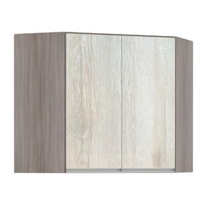Armário de Cozinha Canto Diagonal 76x75x76cm Legno Crema Prime Luciane