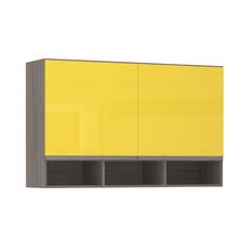 Armário de Cozinha com Nicho 31x75x120cm Amarelo  Prime Luciane
