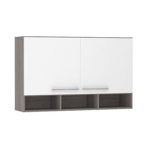 Armário de Cozinha com Nicho 31x75x120cm Branco Prime Luciane