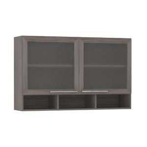 Armário de Cozinha com Nicho 31x75x120cm Malbec Prime Luciane