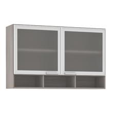 Armário de Cozinha com Nicho 31x75x120cm Miniboreal Prime Luciane