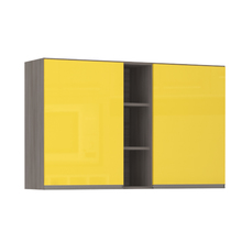 Armário de Cozinha com Nicho Vertical 31x75x120cm Amarelo  Prime Luciane
