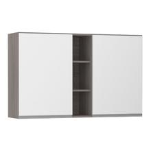 Armário de Cozinha com Nicho Vertical 31x75x120cm Branco Prime Luciane
