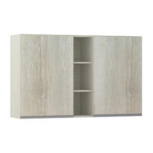 Armário de Cozinha com Nicho Vertical 31x75x120cm Legno Crema Prime Luciane