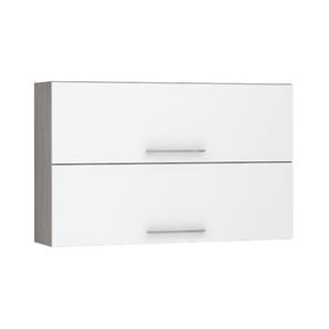 Armário de Cozinha Duplo 31x75x120cm Branco Prime Luciane
