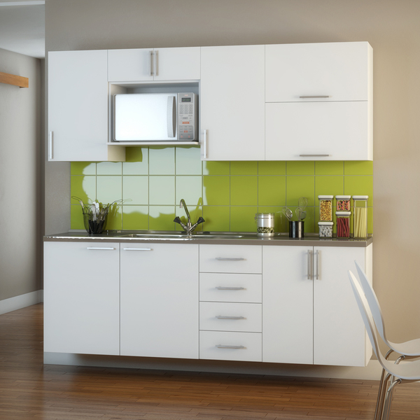 Decoração Aparador Atras Do Sofa ~ Armário de Cozinha Madeira Branco 70x60x36cm Leroy Merlin