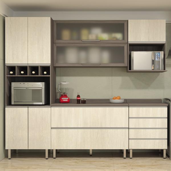 Armarios Para Jardin Ikea ~ Armário de Cozinha de Cozinha Madeira Malbec Luciane 75x120x31cm Leroy Merlin