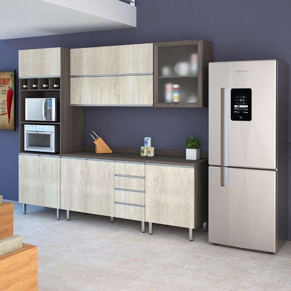 Decoração Aparador Atras Do Sofa ~ Armário de Cozinha de Cozinha Madeira Malbec Luciane 75x60x31cm Leroy Merlin