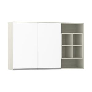 Armário de Cozinha Nicho Lateral 31x75x120cm Branco Prime Luciane