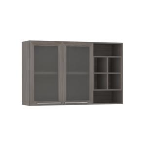Armário de Cozinha Nicho Lateral 31x75x120cm Malbec Prime Luciane