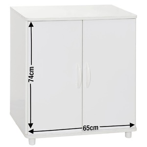 Armário Itaim 2 Portas Branco 73,9x65,2x41cm