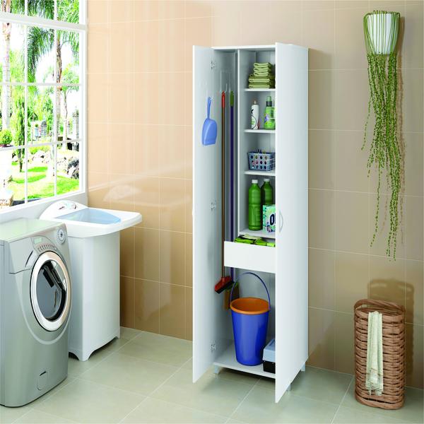 Arm rio lavanderia londrina branco politorno leroy merlin for Muebles para lavanderia de casa