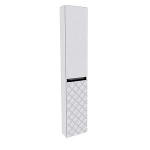Armário Modular de Banheiro Coluna Madeira Branco 150x30x15cm Monaco Darabas Agardi