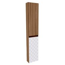 Armário Modular de Banheiro Coluna Madeira Terracota 150x30x15cm Monaco Darabas Agardi