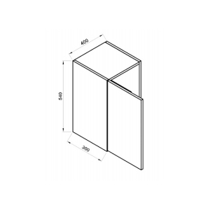 Armário Simples Siena AS604 Direito Branco 40cm