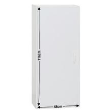 Armário Slim 3 Prateleiras Branco 116x48x21,9cm