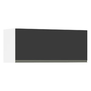 Armário Superior 1 Porta Basculante Preta 75x90x36,5cm Spring