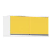 Armário Superior 2 Portas 70x32cm Amarelo Luciane