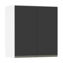 Armário Superior 2 Portas Preta 75x70x36,5cm Spring