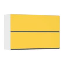 Armário Superior Duplo 2 Portas Basculante Amarela 11,7x123x37,8cm Spring