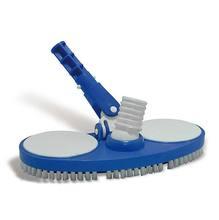 Aspirador para Piscina Standard com Escova Nylon Plástico 11x30cm Azul/Branco CMB Aqua