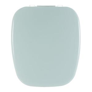Assento Sanitário Plástico Água Marinha Fechamento Comum Fixação Branca para Vaso Celite Versato/Fit/City