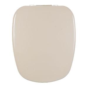 Assento Sanitário Plástico Amêndoa Fechamento Comum Fixação Branca para Vaso Deca Monte Carlo
