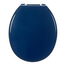Assento Sanitário Plástico Azul Escuro Fechamento Comum Fixação Branca Universal