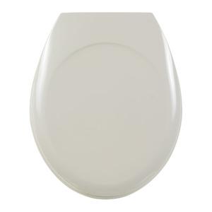 Assento Sanitário Plástico Biscuit Fechamento Comum Fixação Branca Universal