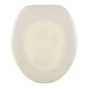 Assento Sanitário Plástico Biscuit Pergamon Fechamento Comum Fixação Branca Universal