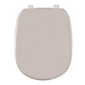 Assento Sanitário Plástico Bone Fechamento Comum Fixação Branca para Vaso Ideal Standard Sabatini/Paris