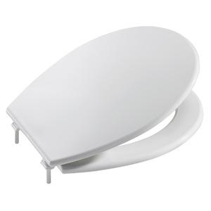 Assento Sanitário Resina Branco Fechamento Suave Fixação Branca para Vaso Roca Laura