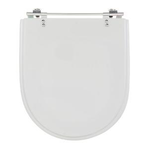 Assento Sanitário Plástico Branco Fechamento Comum Fixação Cromada para Vaso Incepa Calypso