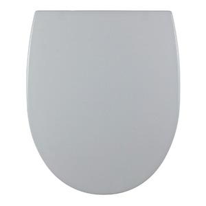 Assento Sanitário Plástico Cinza Platina Fechamento Comum Fixação Branca para Vaso Incepa Eros