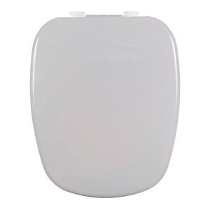 Assento Sanitário Plástico Cinza Real Fechamento Comum Fixação Branca para Vaso Deca Monte Carlo