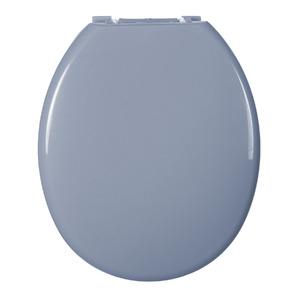 Assento Sanitário Plástico Cinza Vip Fechamento Comum Fixação Branca para Vaso Deca De Ville