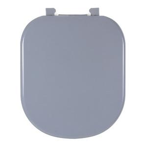 Assento Sanitário Plástico Cinza Vip Fechamento Comum Fixação Branca para Vaso Deca Vogue Plus