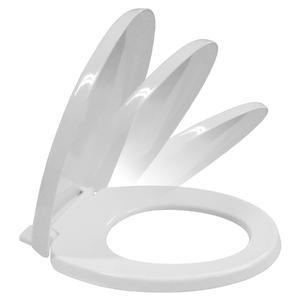 Assento Convencional Plástico Fechamento Suave Branco Sicmol