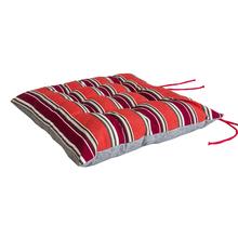 Assento para Cadeira Alto Listrado Vermelho 40x40cm